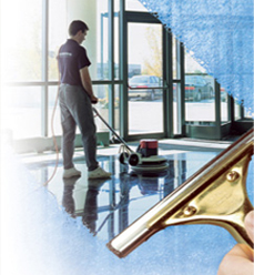 Commercial floor and window cleaning